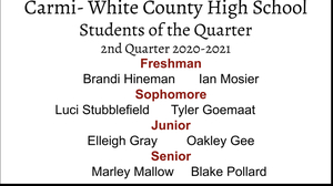 CWCHS Student of the Quarter