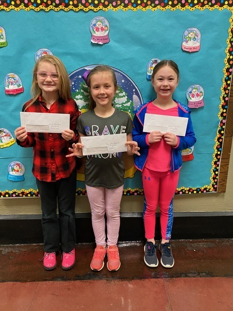 Congratulations to our poster winners from Jefferson! 1st place - Violet, 2nd place- Brinkley, & 3rd place - Mila
