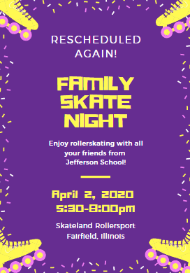 Family Skate Night Information